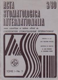 ACTA Stomatologica Internationalia 3/1980