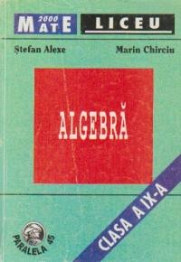 Algebra - Clasa a IX-a