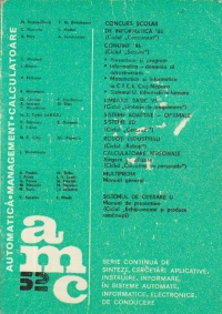 AMC 52 - Automatica. Management. Calculatoare