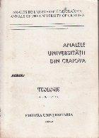 Analele Universitatii din Craiova, Seria Teologie, Nr. 2/1997