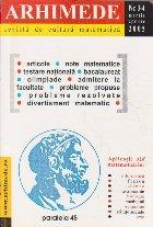 Arhimede - Revista de cultura matematica, Nr. 3-4/2005
