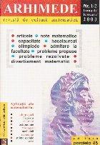 Arhimede - Revista de cultura matematica, Nr. 1-12/2003