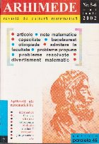 Arhimede - Revista de cultura matematica, Nr. 5-6/2002