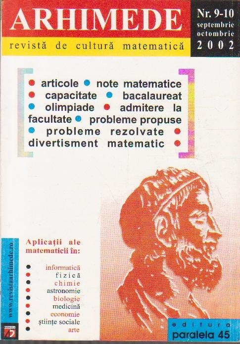 Arhimede - Revista de cultura matematica, Nr. 9-10/2002