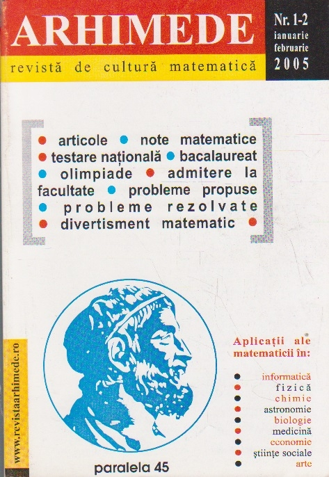 Arhimede - Revista de cultura matematica, Nr. 1-2/2005