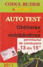 Auto test - Obtinerea si redobandirea permisului de conducere  (13 din 15)