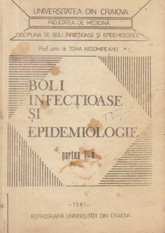 Boli infectioase si epidemiologice, Partea I-a