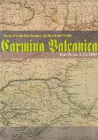 Carmina Balcanica, Year II, No. 2 (3) / 2009