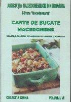 Carte de bucate macedonene, VI (Editie bilingva)