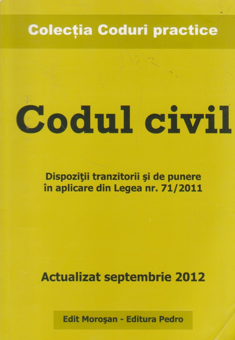 Codul civil. Actualizat septembrie 2012