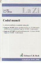 Codul muncii (actualizat la 20.01.2008). Cod 301