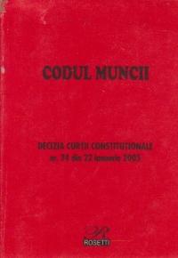 Codul muncii - Decizia Curtii Constitutionale nr. 24 din 22 ianuarie 2003