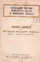 Codul Muncii Republicii Socialiste Romania