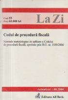 Codul procedura fiscala (Actualizat 2004)