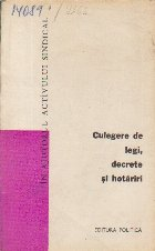 Culegere de Legi, Decrete, Hotariri, Volumul 8