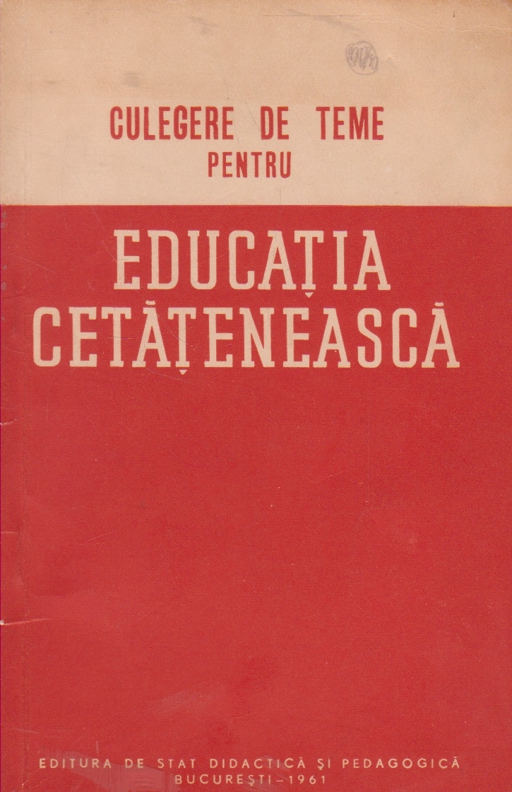 Culegere de teme pentru educatia cetateneasca. Clasa a VII-a. Pentru uzul profesorilor