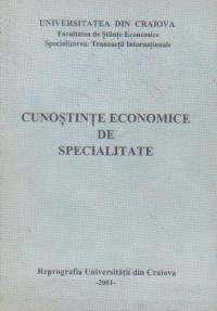 Cunostinte economice de specialitate