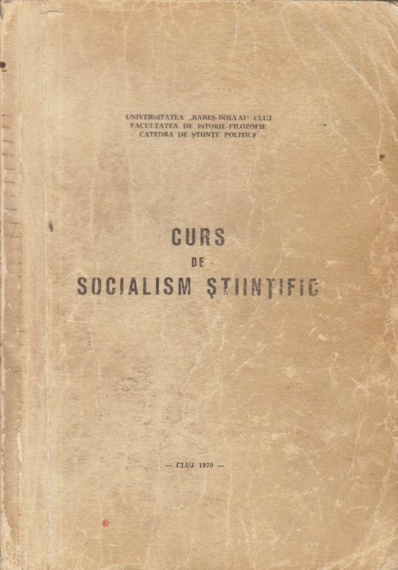 Curs de Socialism Stiintific