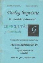 Dialog lingvistic - 111 intrebari si raspunsuri, Volumul al II-lea