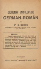 Dictionar enciclopedic german roman (Dr