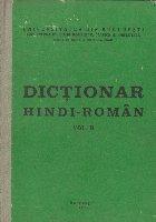Dictionar Hindi Roman Volumul lea