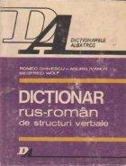 Dictionar rus-roman de structuri verbale paradigmatica, rectiune si sintagmatica