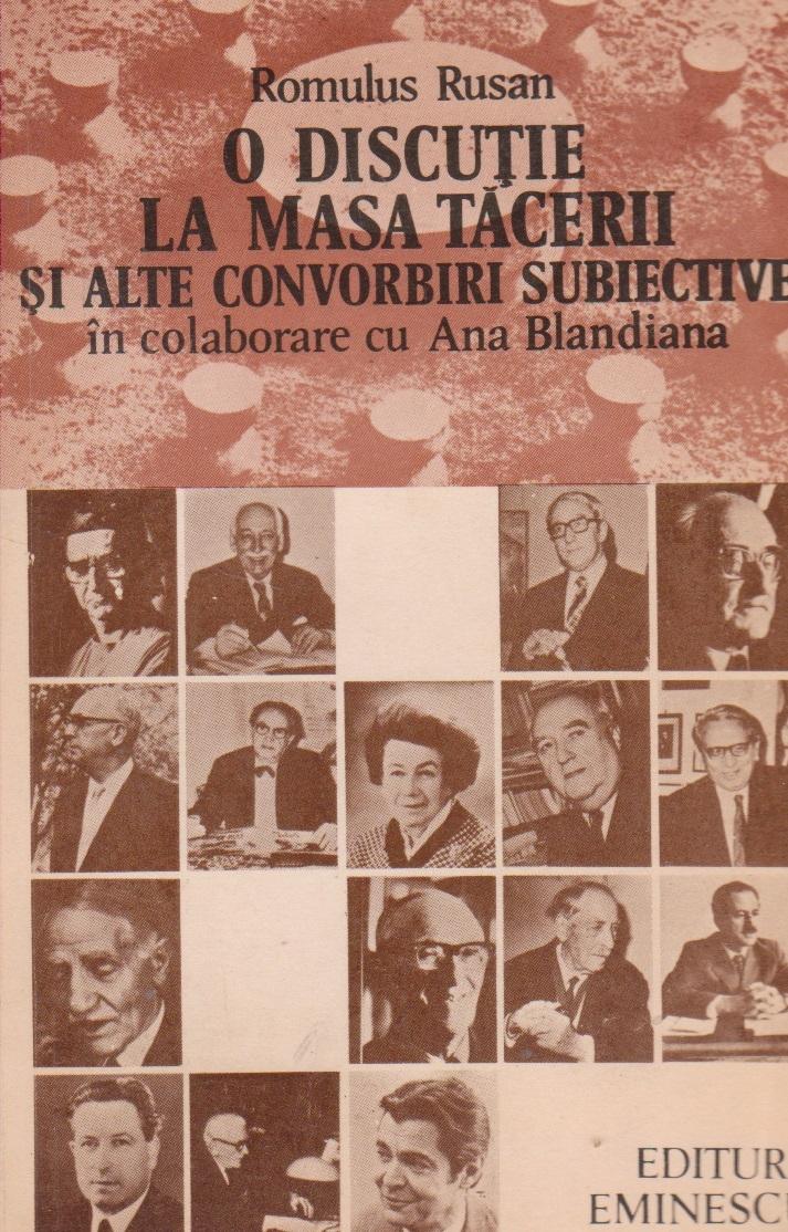 O discutie la Masa Tacerii si alte convorbiri subiective in colaborare cu Ana Blandiana