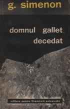 Domnul Gallet, decedat