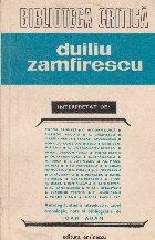Duiliu Zamfirescu interpretat de...