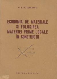 Economia de materiale si folosirea materiei prime locale in constructii