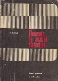 Elemente de analiza sintactica - Manual pentru profesorii de limba romana -