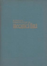Elemente constructive de mecanica fina