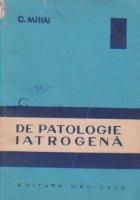 Elemente de patologie iatrogena