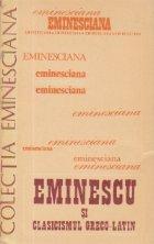 Eminescu si clasicismul greco-latin - Studii si articole