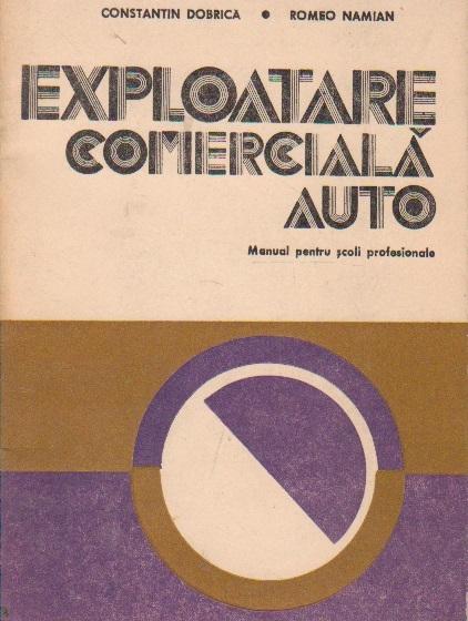 Exploatare comerciala auto. Manual pentru scoli profesionale