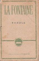 Fabule Fontaine