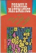 Formule matematice, Volumul I - Sume. Serii. Calcul diferential. Functii elementare