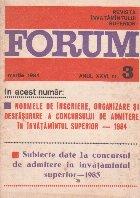 Forum - revista invatamintului superior, nr. 3/1984