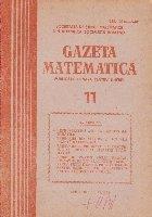 Gazeta matematica, Nr. 11/1985