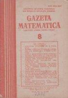 Gazeta Matematica August 1985