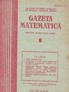 Gazeta Matematica, August 1989