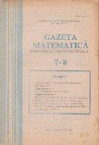 Gazeta matematica, Iulie-August 1992