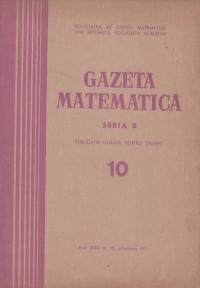 Gazeta Matematica, Octombrie 1971