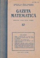 Gazeta matematica, Octombrie 1988