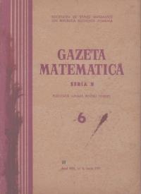 Gazeta Matematica, Seria B, Iunie 1971