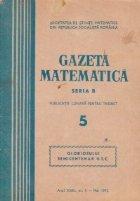Gazeta Matematica, Seria B, Mai 1972