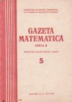 Gazeta matematica, Seria B, Mai 1973