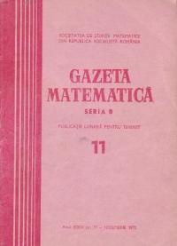 Gazeta matematica, Seria B, Noiembrie 1973