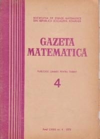 Gazeta Matematica, Seria B, Aprilie 1975