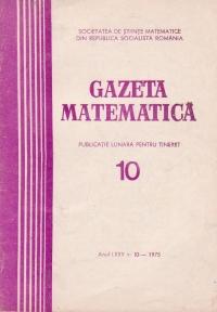 Gazeta Matematica, Seria B, Octombrie 1975